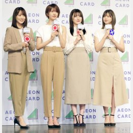 (左から)菅井友香、土生瑞穗、守屋茜、渡邉理佐(C)日刊ゲンダイ