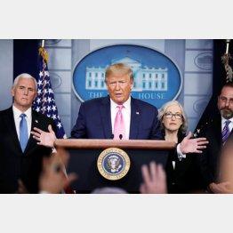 「コントロールしている」とトランプ米大統領(C)ロイター