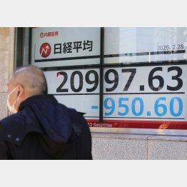 29日の株価ボード(C)日刊ゲンダイ
