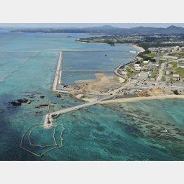 埋め立てが進む沖縄県名護市辺野古の沿岸部(C)共同通信社