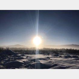 世界で一番寒い村オイミャコン村への道程で撮影した一枚(提供写真)