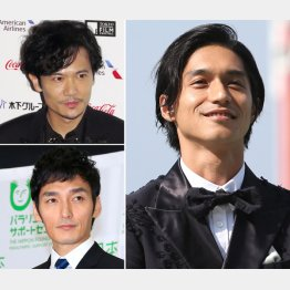 錦戸亮、(左は上から)稲垣吾郎と草彅剛(C)日刊ゲンダイ