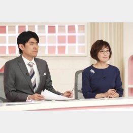 藤井キャスター(左)と小西美穂氏(C)日刊ゲンダイ