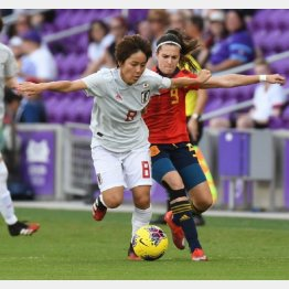 スペイン戦でゴールを決めたFW岩渕(C)ロイタ/USA TODAY Sports