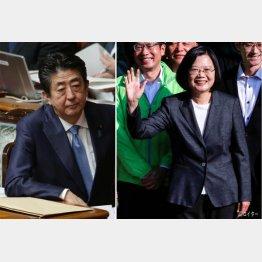 見事な対応を見せた台湾の葵英文総裁(右)、翻って日本は安倍政権のコロナ対応に「評価しない」が50%(C)日刊ゲンダイ