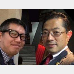 銀座「おのでら」の支配人・市村暢央さん(右)と神戸のスペイン料理「bb9(ベベック)」の西川正一さん(提供写真)