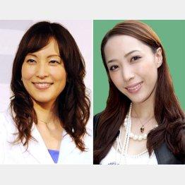 鈴木杏樹(左)と貴城けい(C)日刊ゲンダイ