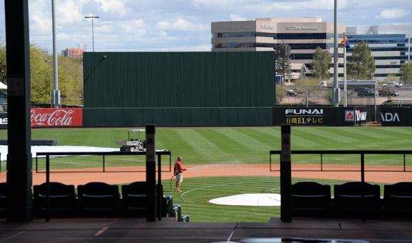 春季トレーニングゲームが中止になったアリゾナ州テンペのスタジアム(C)ロイター/USA TODAY Sports