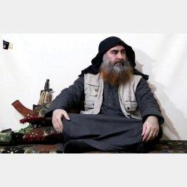 自爆したバグダーディ容疑者(C)ロイター/Al Furqan Media Network.