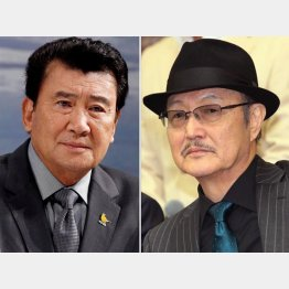 里見浩太朗(左)と石橋蓮司(C)日刊ゲンダイ