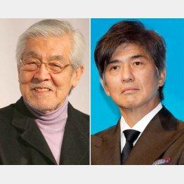 佐藤浩市(右)と父であり俳優の三国連太郎(C)日刊ゲンダイ