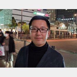 山口祐二郎氏、川崎駅前にて(C)日刊ゲンダイ