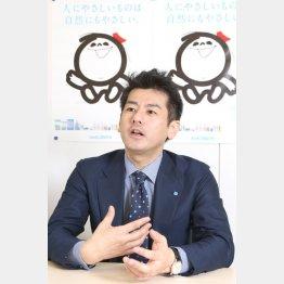 シャボン玉石けんの森田隼人社長(C)日刊ゲンダイ
