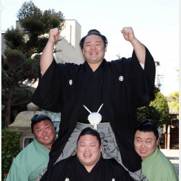 富山県勢として太刀山以来111年ぶりの大関(代表撮影)