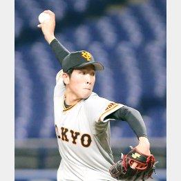 25日、練習試合の対中日戦で好投した戸郷(C)日刊ゲンダイ