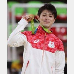 2016年リオ五輪で金メダルを獲得した内村航平(C)日刊ゲンダイ