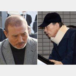 六代目山口組長の司忍(左)と若頭の高山清司(C)日刊ゲンダイ