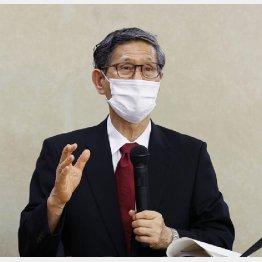 5月4日に記者会見する新型コロナウイルス感染症対策専門家会議の尾身茂副座長(C)共同通信社