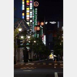みかじめ料どころではない…(閑散とする東京・銀座の繁華街)/(C)日刊ゲンダイ