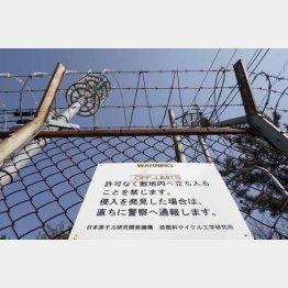 警備が厳重な日本原子力研究開発機構(撮影:友永翔大)