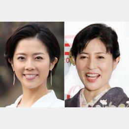 大和田美帆(左)と故・岡江久美子さん(C)日刊ゲンダイ