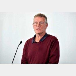 指揮を執る、公衆衛生局の疫学者アンデーシュ・テグネル氏(C)ロイター