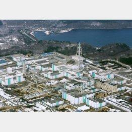 青森県六ケ所村にある核燃料再処理工場(C)共同通信社