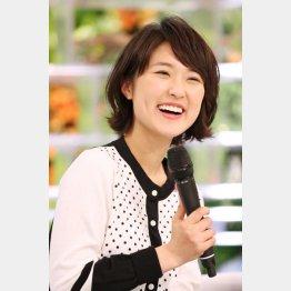 NHKの近江友里恵アナ(C)日刊ゲンダイ