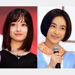 橋本環奈(左)と平祐奈(C)日刊ゲンダイ