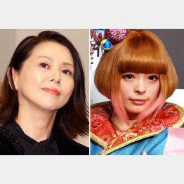 小泉今日子(左)ときゃりーぱみゅぱみゅ(C)日刊ゲンダイ