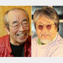 志村けんさん(左)と沢田研二(C)日刊ゲンダイ
