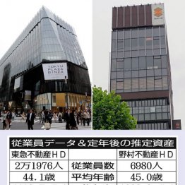東急不動産HDと野村不動産HD 不動産大手の生涯給与を比較