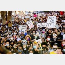 全米で起こった人種差別反対デモ(C)AP=共同