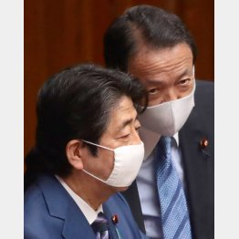 何を話したのか(安倍首相と麻生財務相)/(C)日刊ゲンダイ