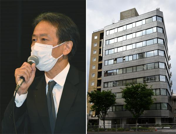 サービスデザイン推進協議会が入るビルと大久保裕一代表理事(C)日刊ゲンダイ