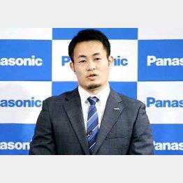 オンライン会見で東京五輪断念を表明したラグビーの福岡堅樹(C)共同通信社