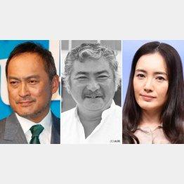 (左から)渡辺謙、勝新太郎、仲間由紀恵(C)日刊ゲンダイ