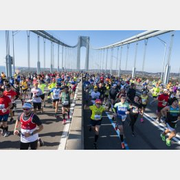 毎年盛り上がりを見せていたニューヨークシティーマラソン(C)UPI/ニューズコム/共同通信イメージズ
