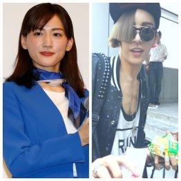 綾瀬はるか(左)と韓流スターのノ・ミヌ(C)日刊ゲンダイ