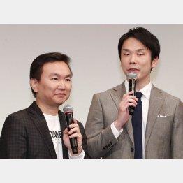 「かまいたち」の濱家隆一(右)と山内健司(C)日刊ゲンダイ