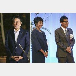 河井克行前法相夫妻(右)の起訴について記者団の質問に答える安倍首相(C)共同通信社