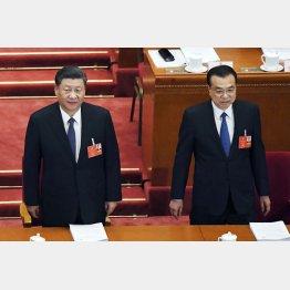 中国の習近平国家主席(左)と李克強首相(5月の全人代で)/(C)共同通信社