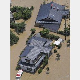 熊本の豪雨被害は決して他人事ではない(C)共同通信社