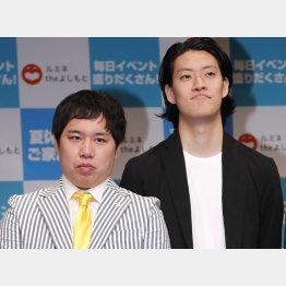 「霜降り明星 」のせいや(左)と粗品(C)日刊ゲンダイ