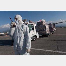 トルコからカザフスタンに送られた救援医療物資(C)Sputnik/共同通信イメージズ