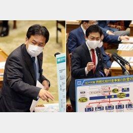 目先で未来を見失わせてはいけない(左から立憲民主の枝野代表、国民民主の玉木代表)/(C)日刊ゲンダイ