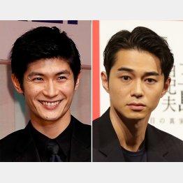亡くなった三浦春馬(左)と東出昌大(C)日刊ゲンダイ