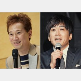 中居正広(左)と安住紳一郎アナ(C)日刊ゲンダイ