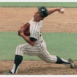 1988年ソウル五輪で力投する野茂英雄投手(C)共同通信社