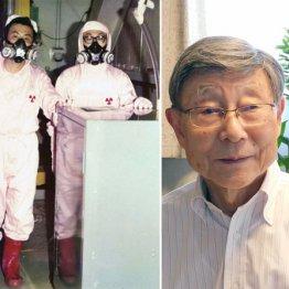 岩崎信一郎さん(右=現在)は、理研計器に入社後、第1原発2号炉で作業